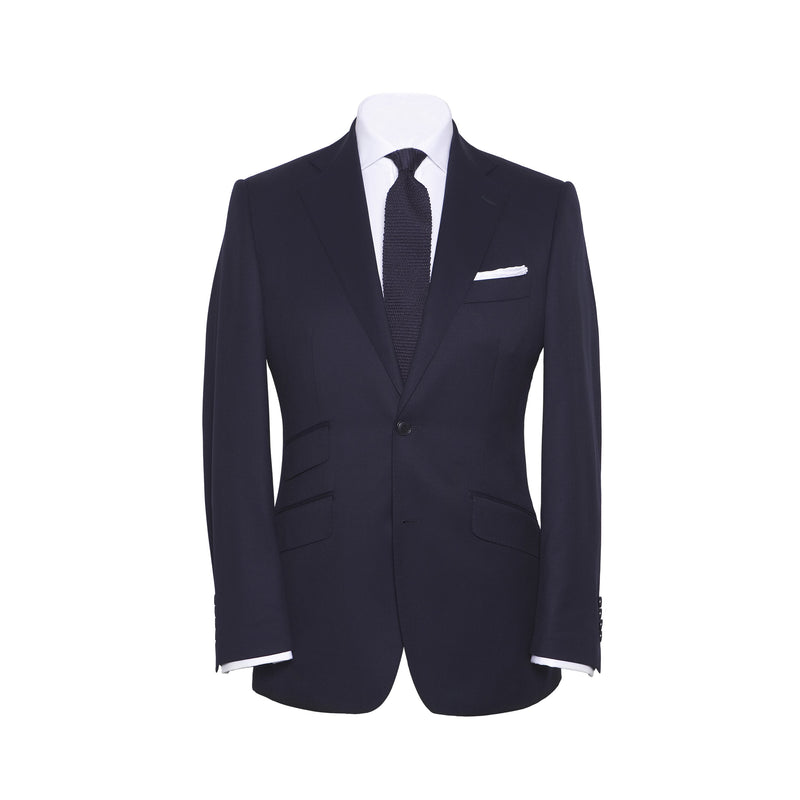Solid Navy Conduit Cut 2 Piece Suit