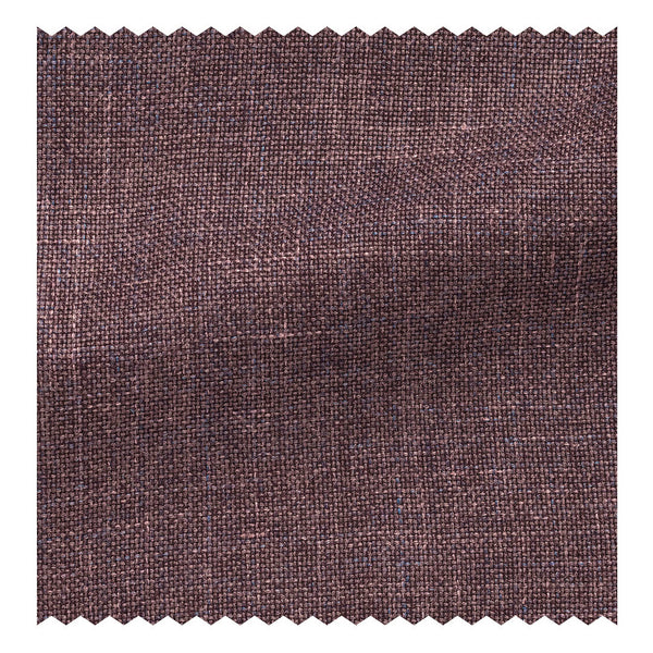 Mauve Wool/Silk/Linen Basketweave