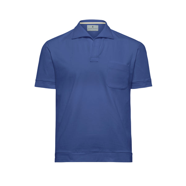 Sky Solid Comber Polo Shirt