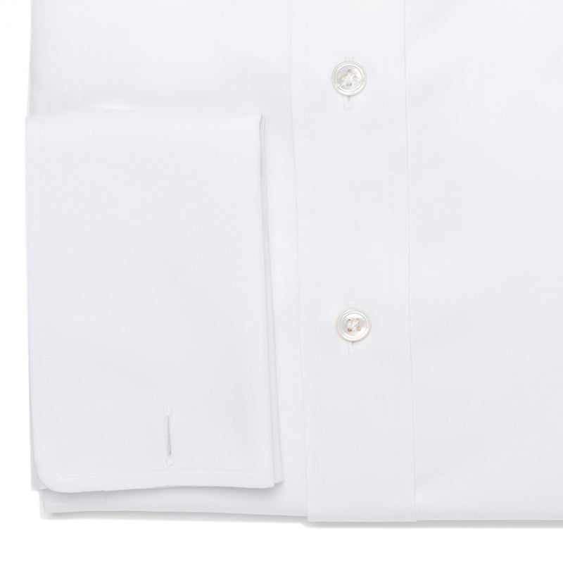 White Fine-Twill Cotton Shirt