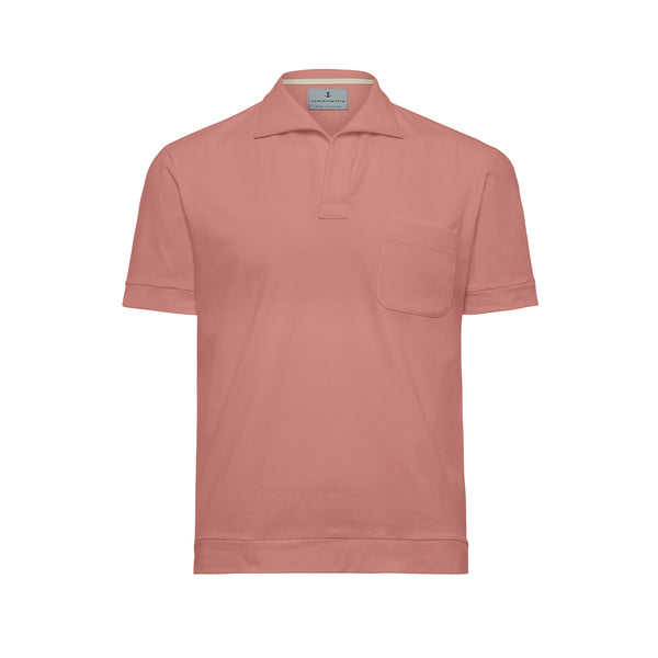 Pink Solid Comber Polo Shirt