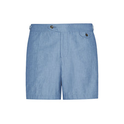 Light Blue Chambray Clipper Swim Short