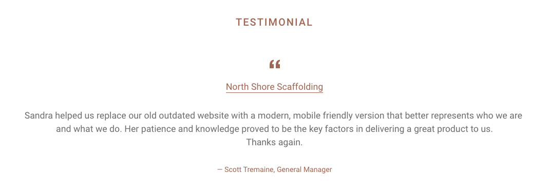 Kaizen Kiwi Testimonial from North Shore Scaffolding