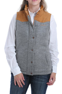 Cinch Ladies Grey Tweed Vest - Cinch