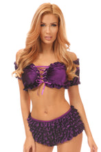 Load image into Gallery viewer, Plus Size Purple Velvet Ruffle Panty