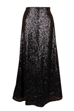 Load image into Gallery viewer, Top Drawer Long Black Sequin Skirt