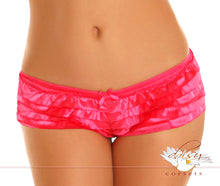 Load image into Gallery viewer, Pink Satin Ruffle Panty