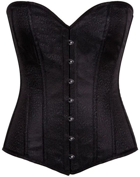Lavish Black Brocade Corset