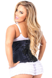 Lavish Navy Blue Underbust Zipper Corset