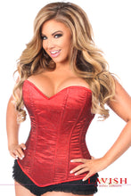 Load image into Gallery viewer, Lavish Plus Size Red Glitter Side Zipper Corset