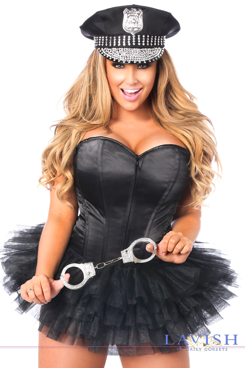 Lavish Flirty Cop Corset Costume