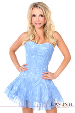 Load image into Gallery viewer, Lavish Plus Size Pastel Blue Lace Corset Dress