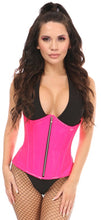 Load image into Gallery viewer, Top Drawer Hot Pink Patent PVC Steel Boned Under Bust Corset
