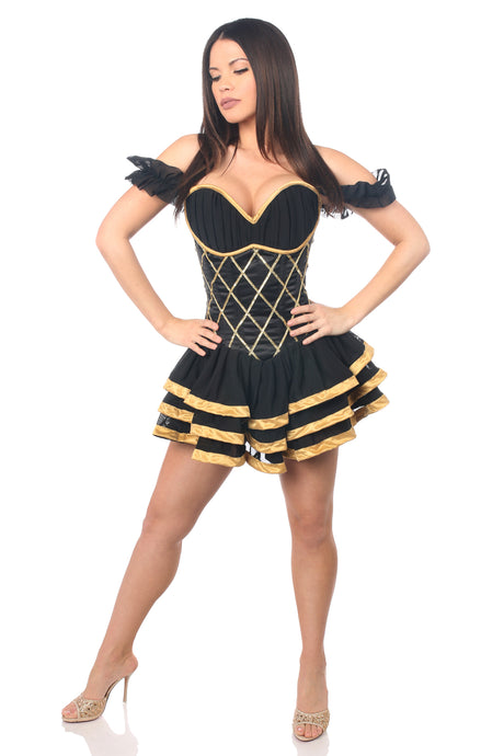 Top Drawer Steel Boned Egyptian Corseted Dress