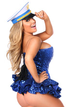 Load image into Gallery viewer, Top Drawer Premium Sequin Sailor Corset Dress Costume