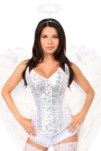 Load image into Gallery viewer, Top Drawer 4 PC Sweet Angel Corset Costume