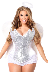 Top Drawer 4 PC Sweet Angel Corset Costume