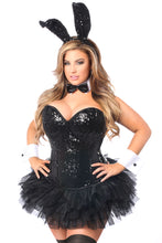 Load image into Gallery viewer, Top Drawer 5 PC Sequin Bunny Corset Costume