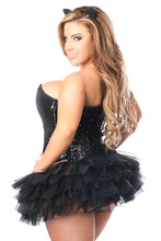 Load image into Gallery viewer, Top Drawer 3 PC Sequin Cat Corset Costume