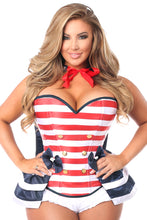 Load image into Gallery viewer, Top Drawer 4 PC Pin-Up Sailor Corset Costume
