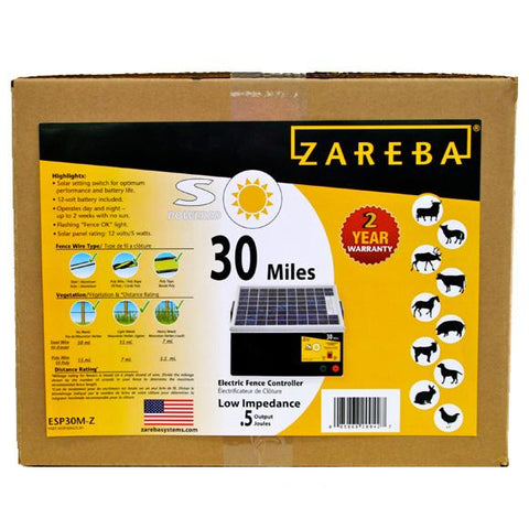 Zareba | 30 Mile Solar Low Impedance Charger