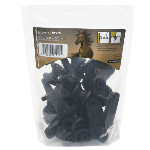 ElectroBraid | Roller Post Insulators - Black