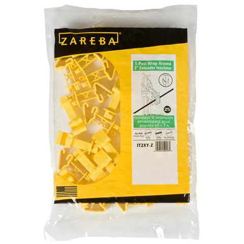 Zareba | Snap-On T-Post Insulator, Yellow