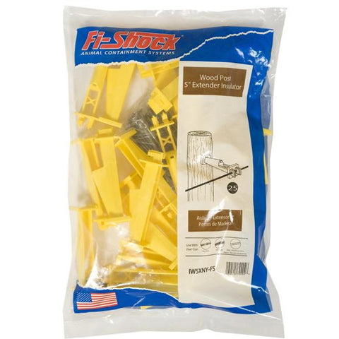"Fi-Shock | Yellow Nail-on 5"" Extender Insulator"