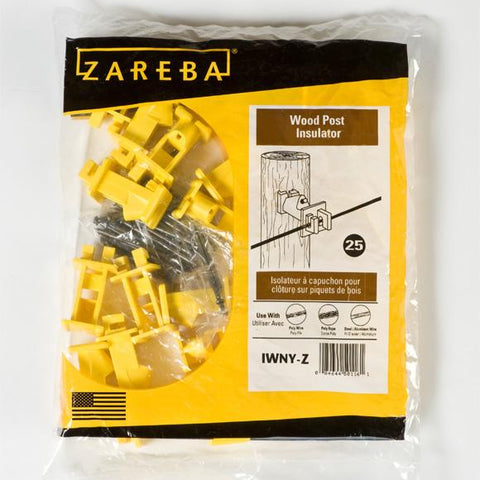 Zareba | Yellow Wood Post Insulator