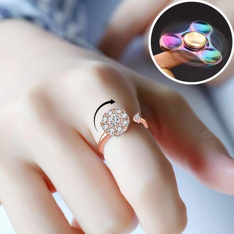 Zircon Rotary Ring - anxiety reliever