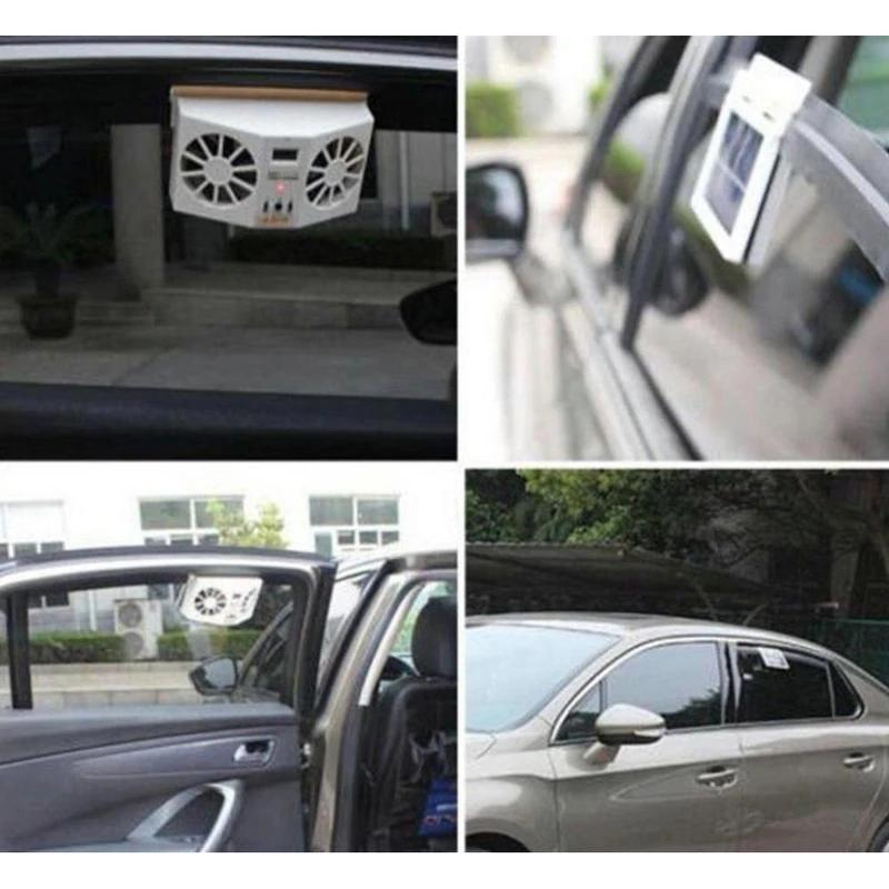 Solar powered car radiator fan