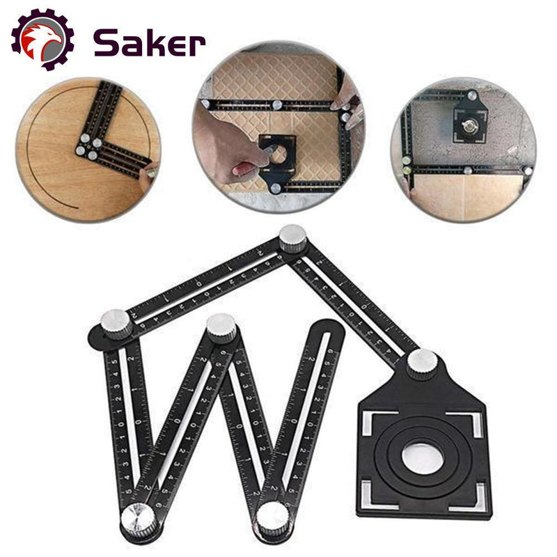 Saker® Six-Sided Aluminum Alloy Angle Measuring Tool(UK)