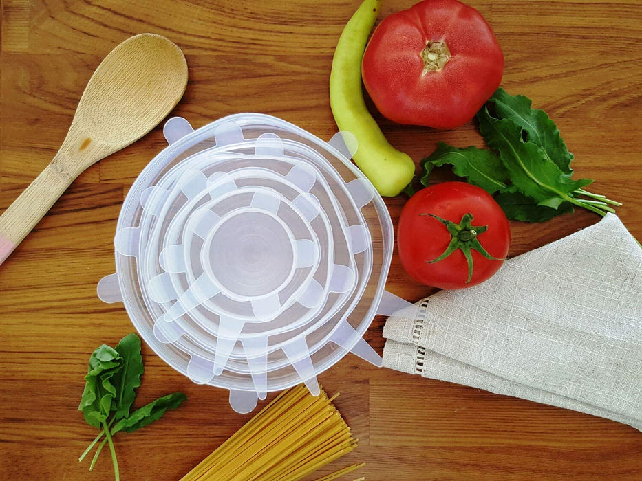 6-Pack Silicone Stretch Lids | Reusable Plastic Wrap Alternative
