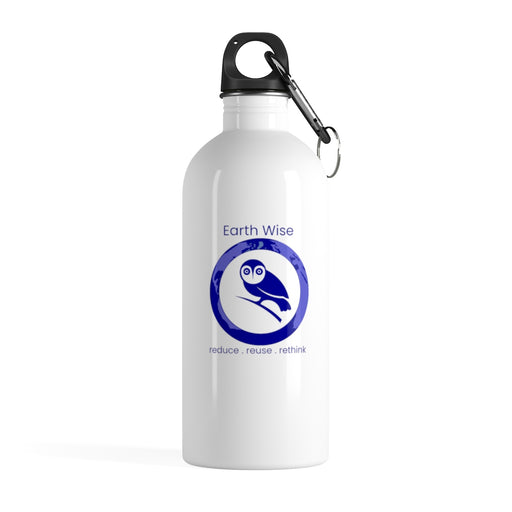 Add your Logo - Act Earth Wise Stainless Steel Water Bottle