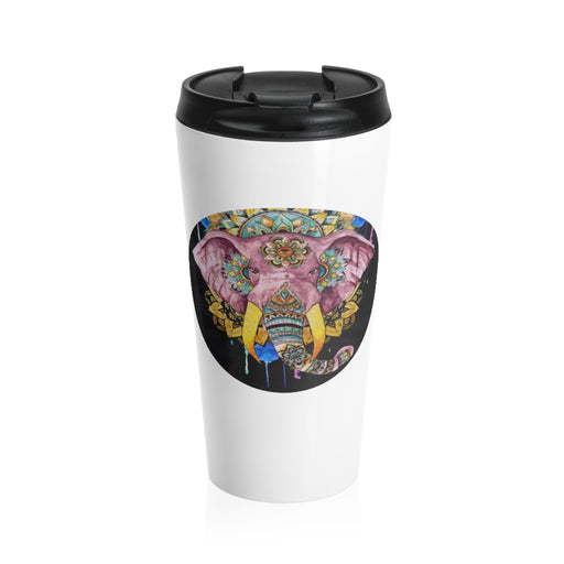 Elephant Mandala - Stainless Steel Travel Mug
