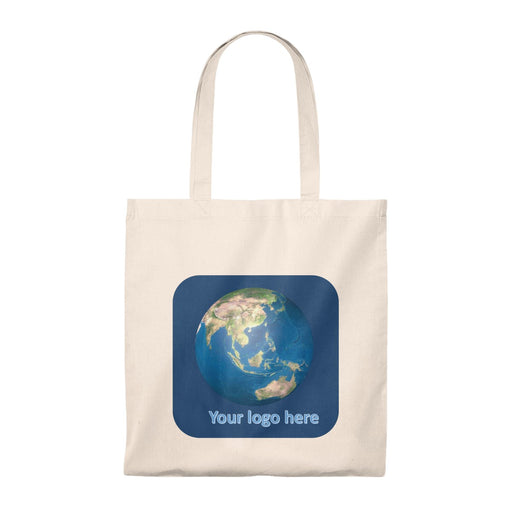Add your Logo - Act Earth Wise Tote Bag - Vintage