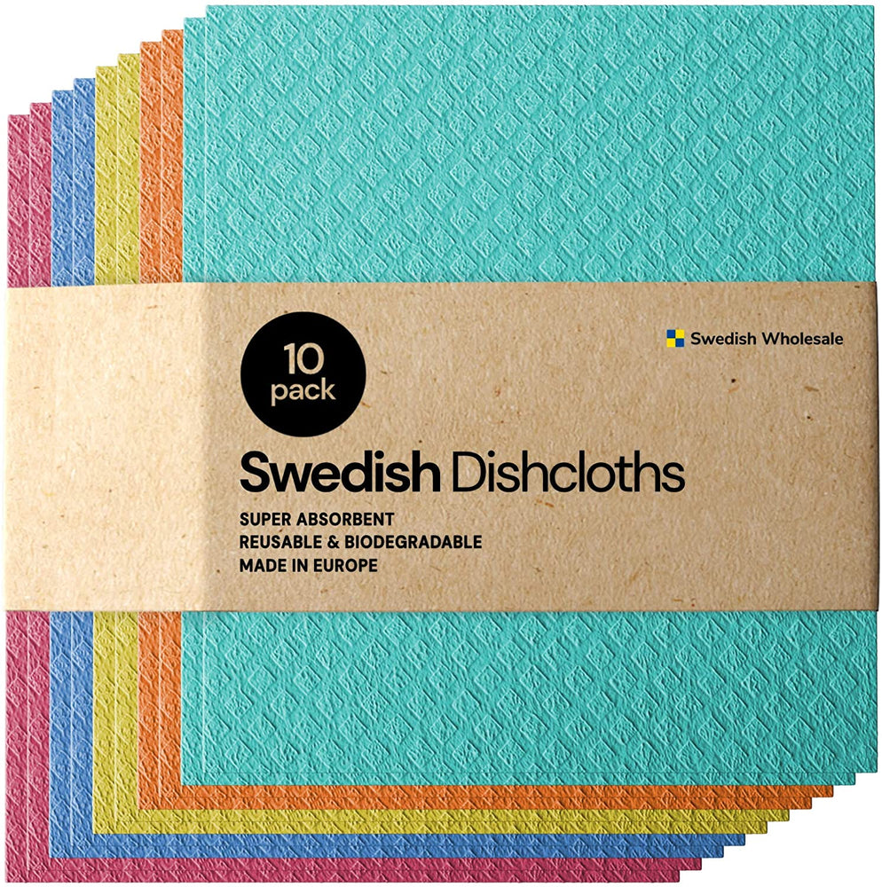 Eco-Friendly Reusable Swedish Cellulose Dishcloths