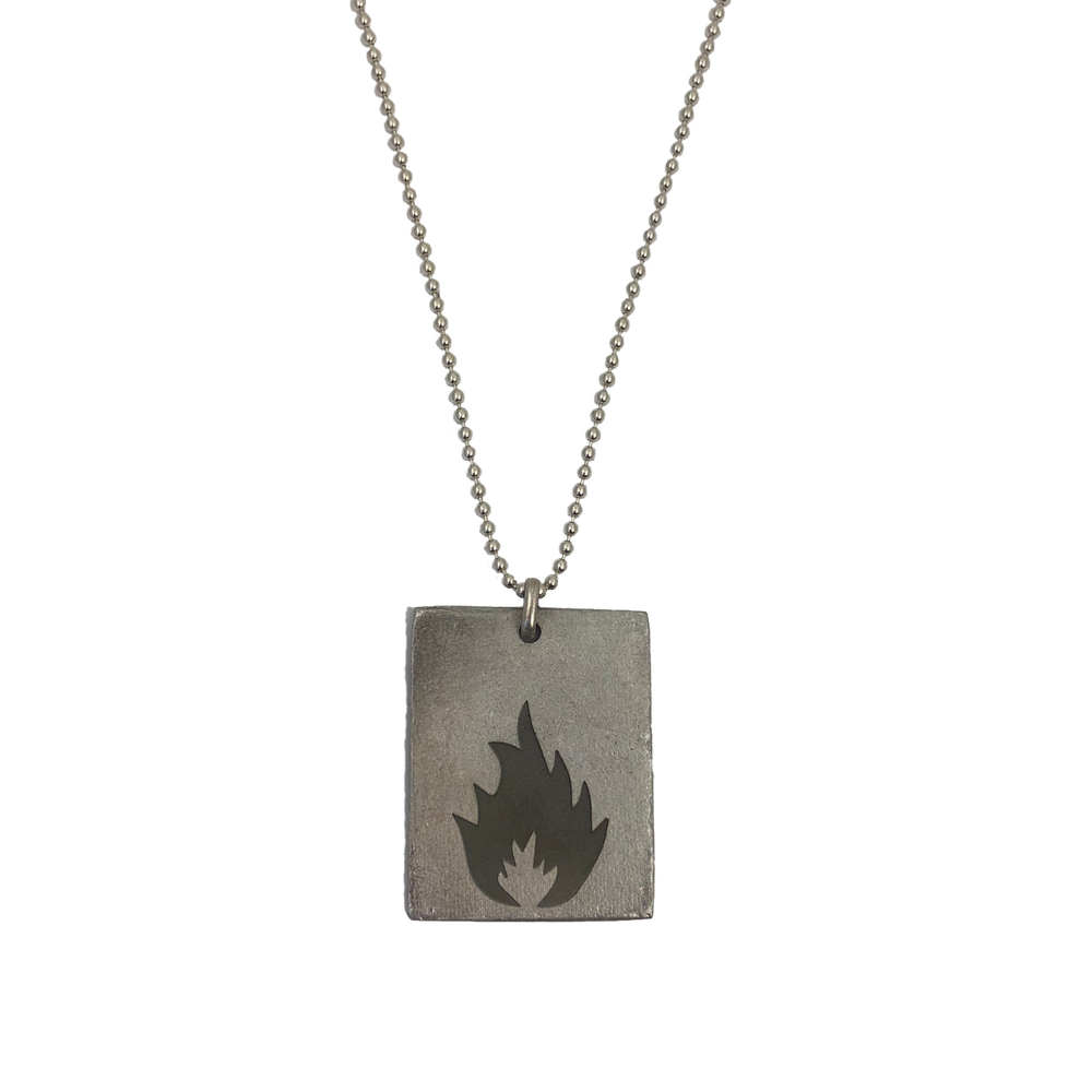 """Karmacoma"" Rectangle Necklace- Massive Attack X Legacy of War Collaboration"