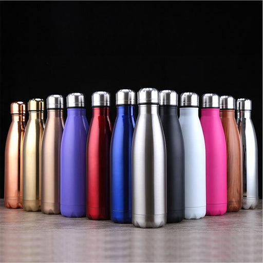 Stainless Steel Cola Insulated Vacuum Flask Sport Bottle