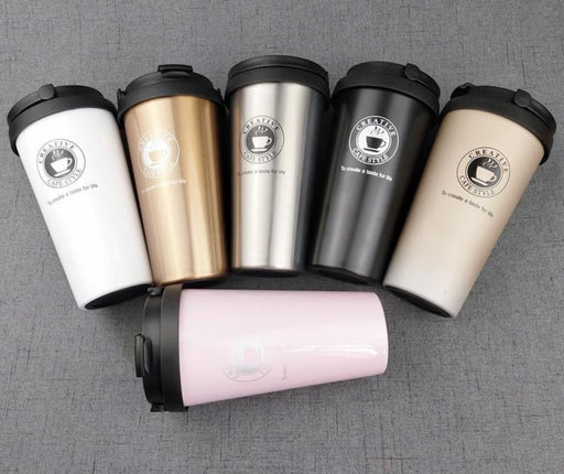 Stainless Steel Travel Coffee Mug With Lid