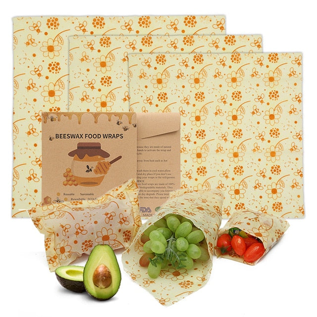 Reusable Zero Waste Beeswax  Food Wrap