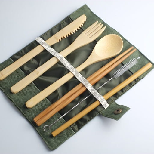 Eco-Friendly Bamboo Utensils Set
