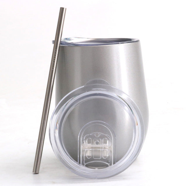 Egg Shaped  Stainless Steel Tumbler - 12oz