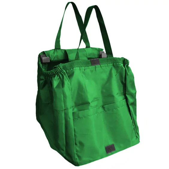 Bagito Hang Bags - A reusable shopping bag that hangs from grocery cart - 4 PCS