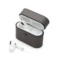 AirPods Pro Case: Italian Saffiano Grey - AirPodsCases.co.uk