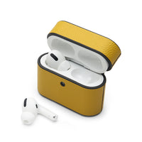 AirPods Pro Case: Italian Saffiano Lemon Yellow - AirPodsCases.co.uk