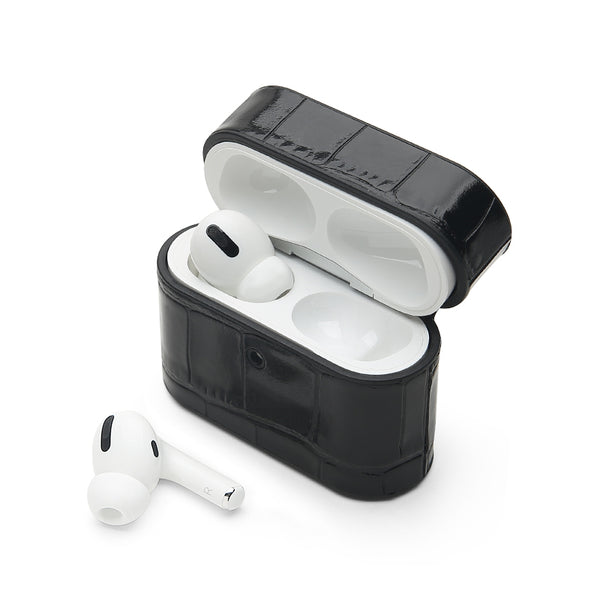AirPods Pro Case: Italian Croco Black - AirPodsCases.co.uk