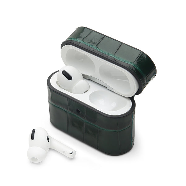 AirPods Pro Case: Italian Croco Green - AirPodsCases.co.uk