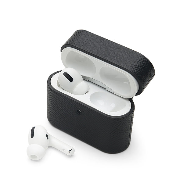 AirPods Pro Case: Italian Saffiano Black - AirPodsCases.co.uk