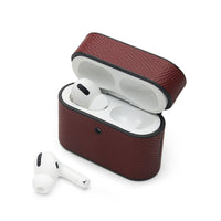 AirPods Pro Case: Italian Saffiano Burgundy - AirPodsCases.co.uk